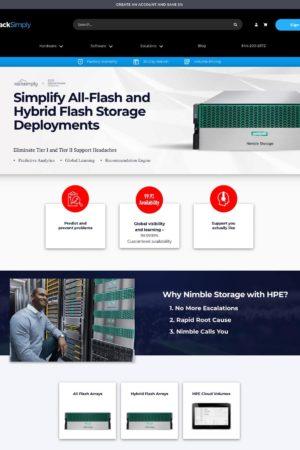 Nimble storage rack simply homepage image