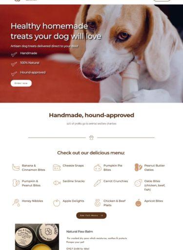 Silvi B Dog Treats homepage image